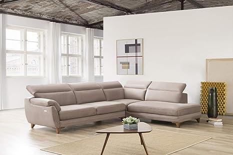 Sofa Dreams - Divano angolare Moderno in Tessuto con ...