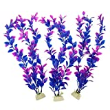 Product review for Pawliss Aquarium Decor Fish Tank Decoration Ornament Artificial Plastic Plant Purple 12inch 3 Pack 3Pcs