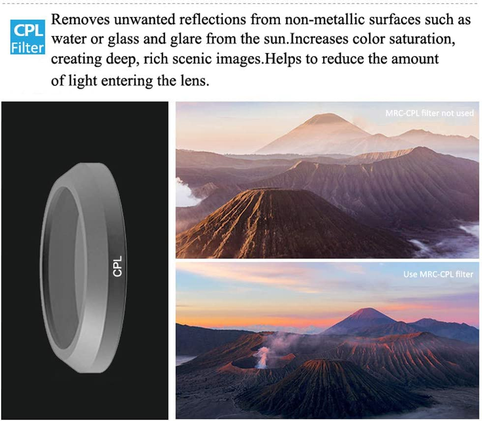 Yoton Accessories ND4 ND8 ND16 ND32 CPL MCUV Lens Filter for Parrot ANAFI Drone Gimbal Camera Lens Color: ND8, Delivery from 15 to 20 Day