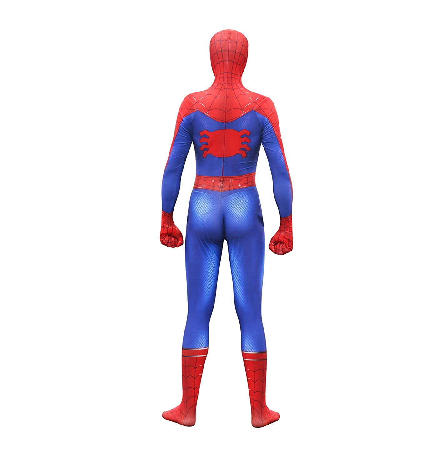 Unisex Lycra Spandex Zentai Halloween Into The Spideverse Cosplay Costumes Suit Adult//Kids 3D Style