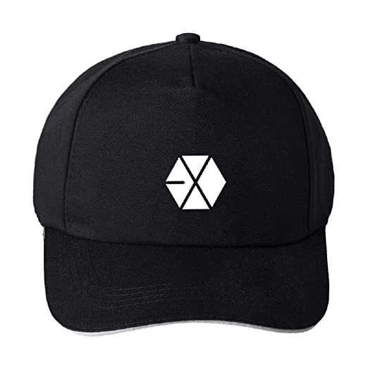 K-POP EXO Wanna ONE Seventeen Team Album Logo Baseball Cap Unisex Sunhat  Adjustable Casual 7a7599a54ac5
