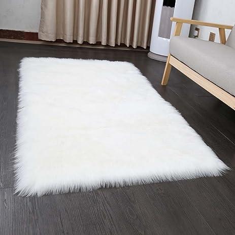pinkday faux sheepskin area rug home rugs jungle sheep skin rug fluffy rug pure white 30