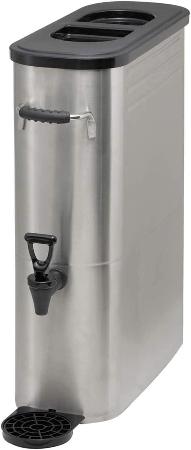 Winco SSBD-3 Stainless Steel Ice Tea Dispenser, 3-Gallon