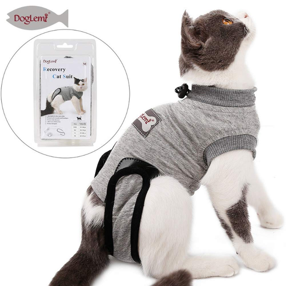 Coppthinktu Cat Recovery Suit for Abdominal Wounds or Skin Diseases, Breathable E-Collar Alternative for Cats and Dogs, After Surgery Wear Anti Licking Wounds by Coppthinktu