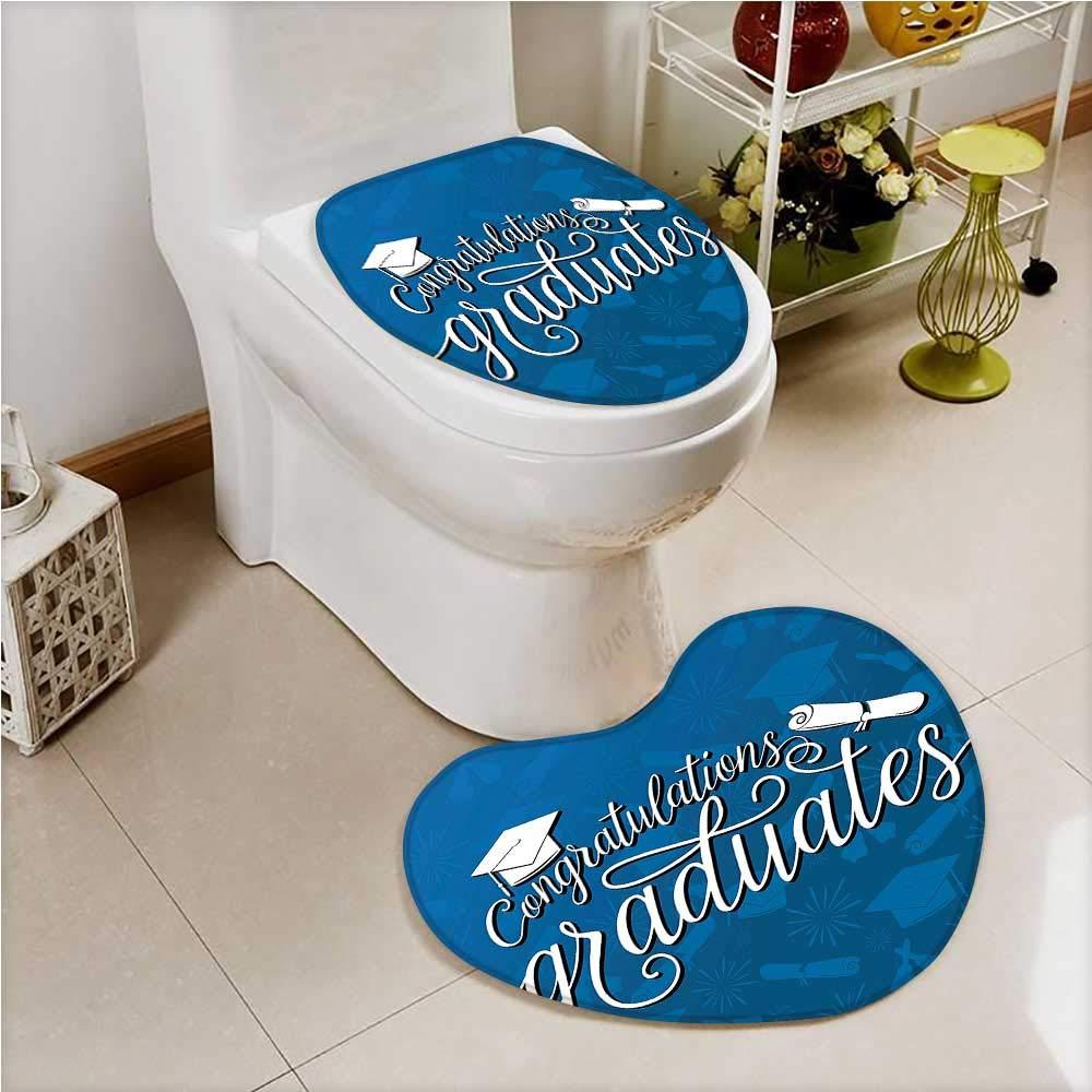 PRUNUS 2 Piece Toilet Cover set College Celebration Ceremony Certificate Diploma Square in Bathroom Accessories
