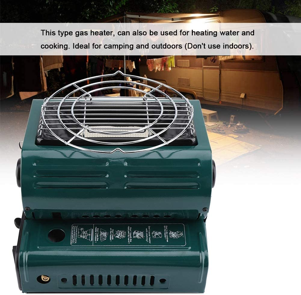 TOPINCN Calentador De Gas Portátil Al Aire Libre Uso Dual Calefacción Al Aire Libre Cocina Calentador De Gas Butano para Viajes Camping Senderismo ...
