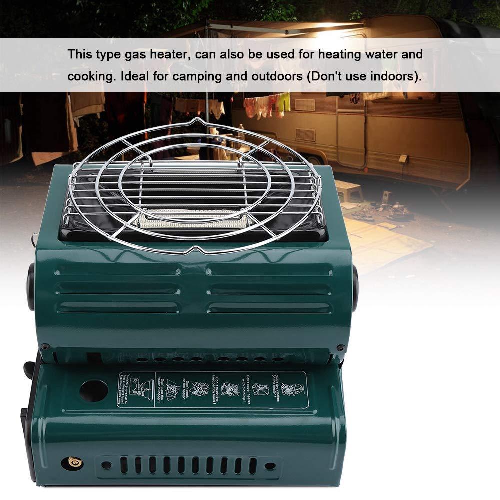 protecci/ón de Seguridad mutua port/átil Calentadores de Gas para Exteriores Parrilla para cocinar Senderismo Estufas de Barbacoa para Acampar Estufa de Camping para Acampar Dual Gas Dual