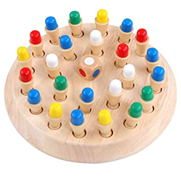 Ao Tuo Juego de Rompecabezas Toy Chess, Wooden Color Memory Chess ...