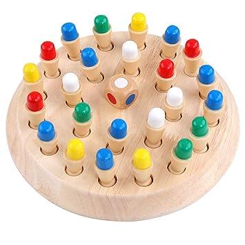 Ao Tuo Juego de Rompecabezas Toy Chess, Wooden Color Memory Chess ...