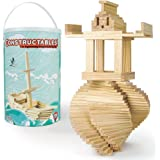 Imagination Generation Constructables! Pine Wood Building Planks, 150 Pieces - Educational Tinker Toys for Kids & Teens - STE