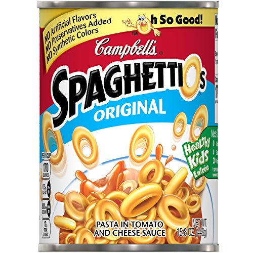 Campbell's SpaghettiOs Canned Pasta, Original, 15.8 oz. Can ()