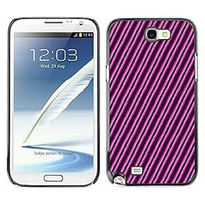 iKiki-Tech Estuche rígido para Samsung Galaxy Note 2 N7100 - Diagonal Lines
