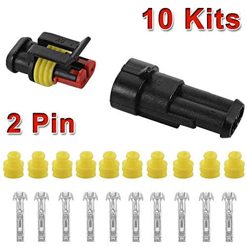 5 Sets 7 Pin Car Waterproof Connector Automotive Wiring Manual Guide