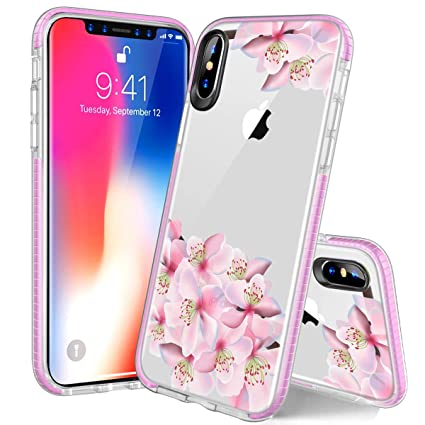iPhone Xs Max Case, Soft TPU Case for iPhone Xs Max 6.5 Inch, Slim Flexible Cover for Women Sakura Cherry Design Case for iPhone Xs Max 6.5 inch 2018