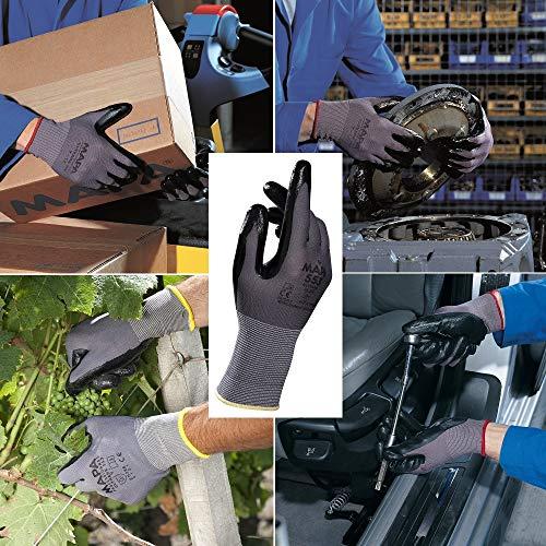 1 Pair Delivery Builders Workshop Black Nitrile Workman Gloves Mechanics Warehouse Multi Purpose Safety Gloves Size 8 Medium Picking Handling