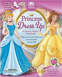 amazon com disney princess princess dress up a forever sticker