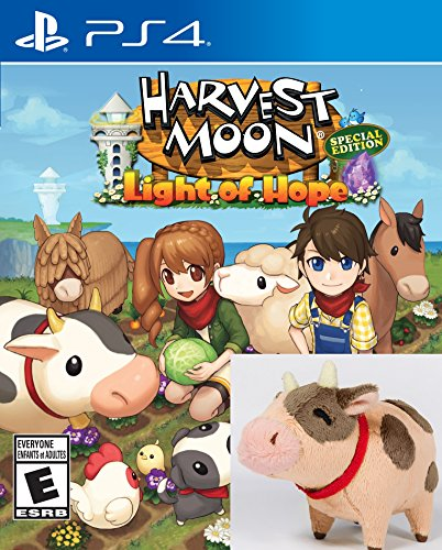 Harvest Moon®: Light of Hope Special Edition BONUS Chocolate Plush Cow for PlayStation - 4 Playstation Lights