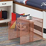 Homebeez Morden Designed Nesting End Coffee Table, Set of 2 (copper golden)