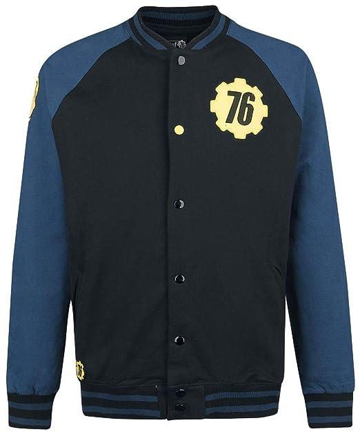 Fallout 76 - Vault 76 Chaqueta Universitaria Negro/Azul ...