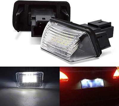 LED license plate lamp light for Peugeot 206 hatchback 306 307 308 error free