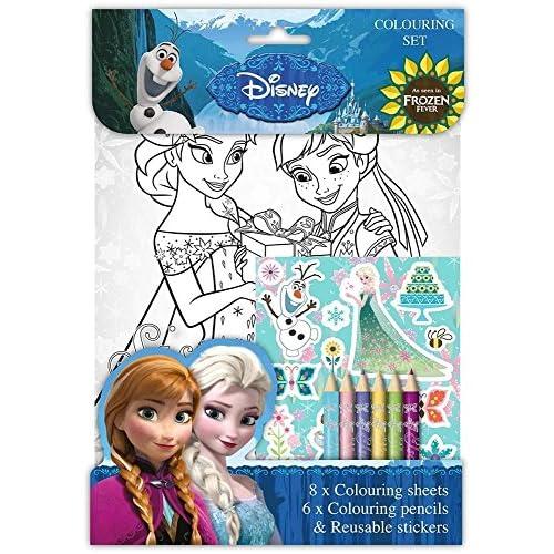 Set de Frozen Fever de Disney (hojas para colorear, lápices de ...