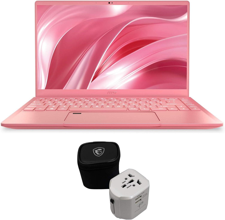 """MSI Prestige 14 A10SC-091 (i7-10710U, 16GB RAM, 512GB NVMe SSD, GTX 1650 4GB, 14"""" Full HD, Windows 10 Pro) Professional Laptop - Rose Pink"""