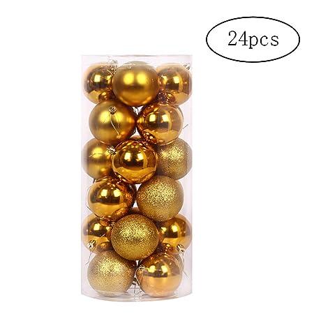 Nicedeal 24X Multi usos de Navidad Bolas Bolas 4cm balón colgado ...