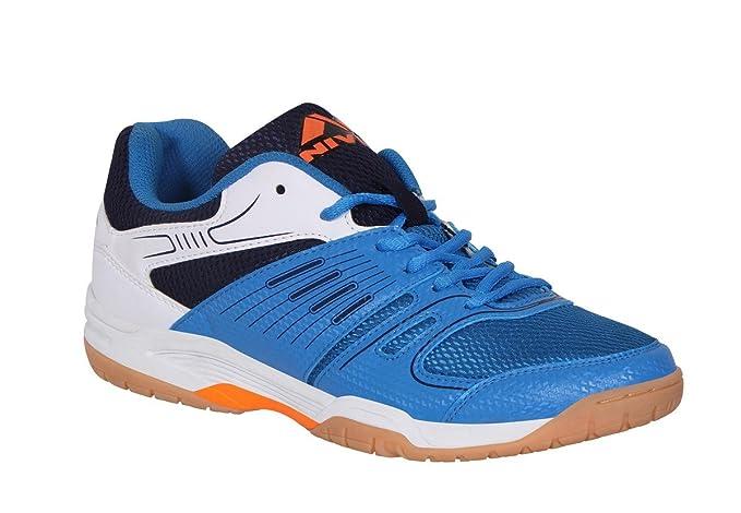 NIVIA Polyester Gel Verdict Badminton Shoes  Blue