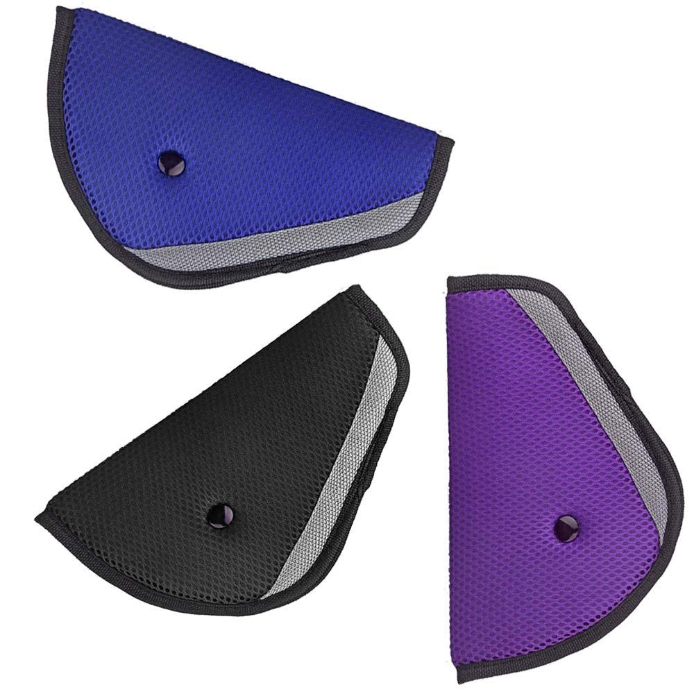 Yakamoz 3pcs Cintura di Sicurezza regolatore confortevole per bambini, Posizionatore di cintura di sicurezza Protector Kids Seatbelt Adjuster Kids Seatbelt Positioner