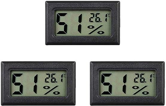 Termómetro digital eSky24 pequeño, de funcionamiento a pilas, con ...