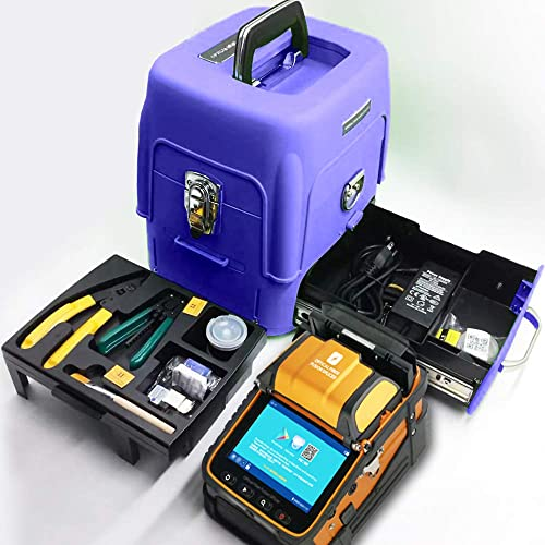 D YEDEMC SM MM Automatic Fiber Optical Fusion Splicer Integrate Visual Fault Locator and Optical Power Meter Ai-9 Fiber Cleaver Kit Blue_Box_Ai-9