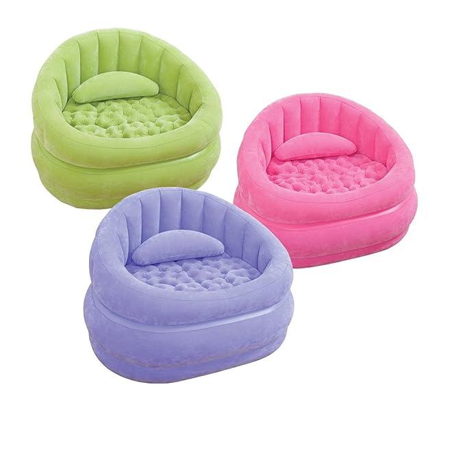 Intex 68563NP Cafe Chair - Sillón hinchable (sin ftalatos, 91 x 102 x 65 cm) -1 unidad, colores surtidos