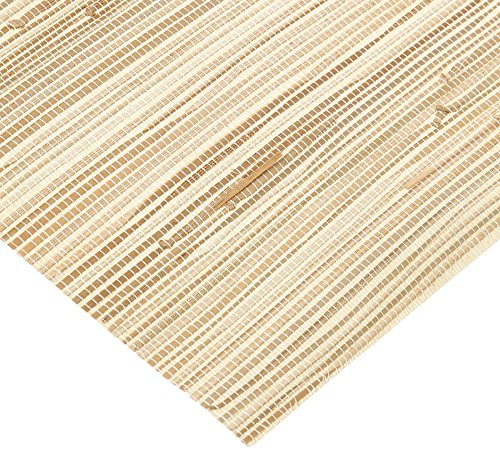 - York Wallcoverings NZ0787 Grasscloth by River Grass Wallpaper, Cream, Beige, Tan, Khaki