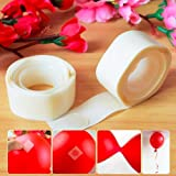 Party Hour 200 Glue Dots for Happy Birthday, Wedding, Anniversary, Baby Shower Decoration- Set of 2 Balloon Glue Dots Ribbons Sticker 2 in 1