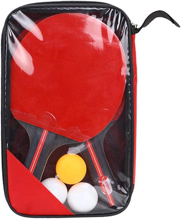 Wukalaka - Juego de remo de tenis de mesa con 3 pelotas para todos los niveles, ideal para principiantes y jugadores de gama alta, 2 unidades