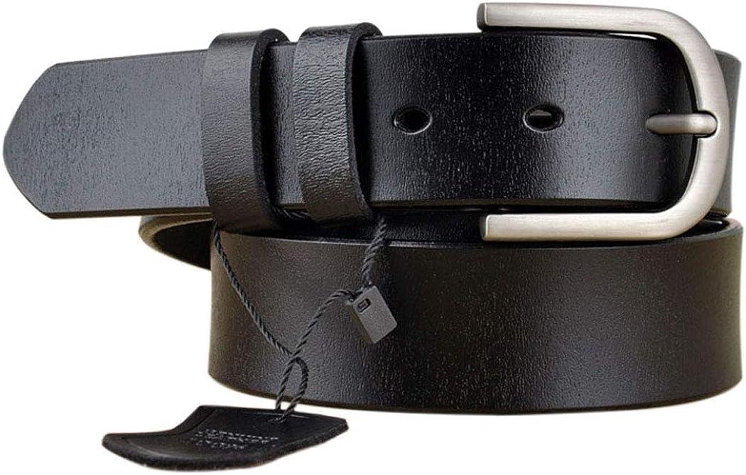 Womens Genuine Leather Double Belts For Jeans Belt For Women /& men/'s Pants