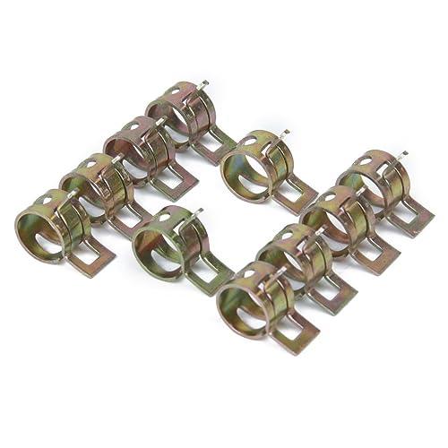 SODIAL(R) 10 x Clip a Ressort Colliers de Serrage pour Tuyau de Carburant Conduite d'eau Tube de l'air Diametre 10mm