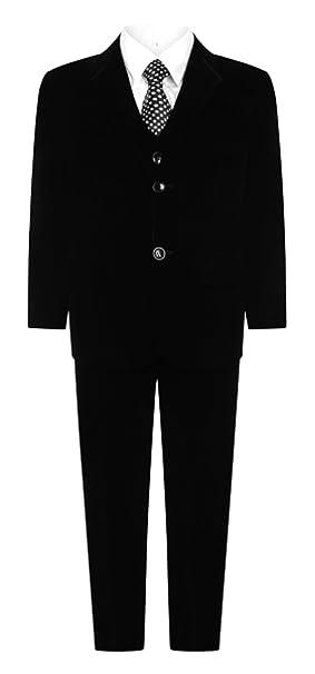 Chicos 5 pieza boda negra de Fiesta terciopelo disfraz talla 1 – 15 años