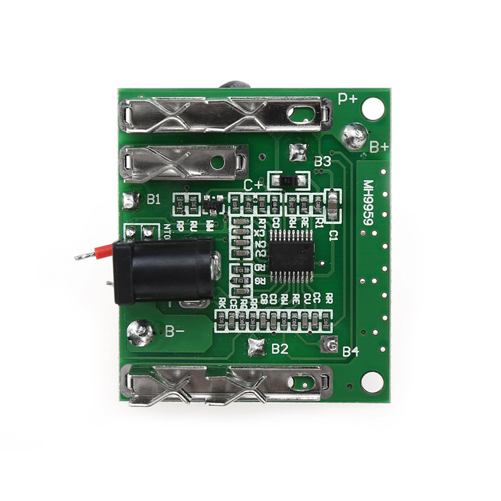 5S 18/21V 20A Battery Charge Discharge Protection Module, Li-Ion Lithium Battery Pack Protection Circuit Board BMS Module for Power Tools