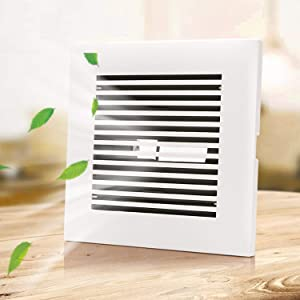 ABS Air Vent Soffit Vent Adjustable Square Louver ABS Intake Vent Grill Cover White for Home or Office (3 inch, Straight)