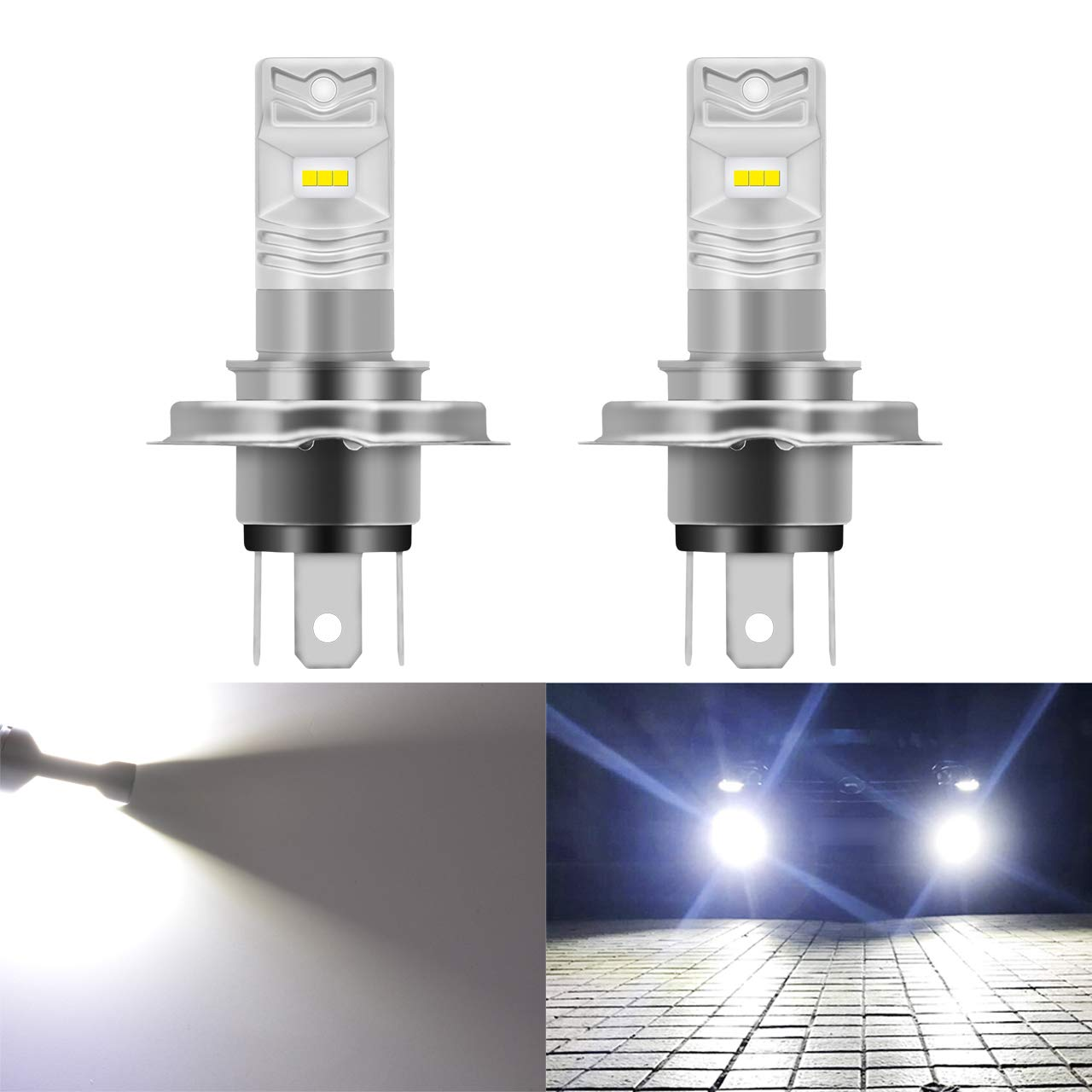 KaTur 1156 P21W 7506 BA15S LED Bulb High Power CSP Chips Extremely Bright 1600 Lumens 6500K Xenon White Replace for Back Up Reverse Brake Light,Pack of 2