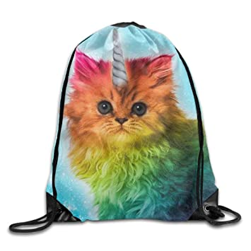1d3eb8a622d Zhark Unicorn Cat Lightweight Drawstring Bag Sport Gym Backpack Gym Bag For  Men And Women