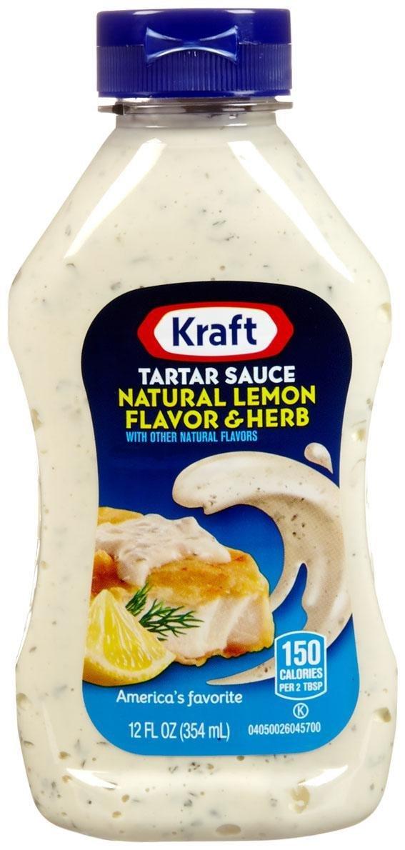 Kraft Tartar Sauce - Natural Lemon Flavor And Herb - 12 Ounces
