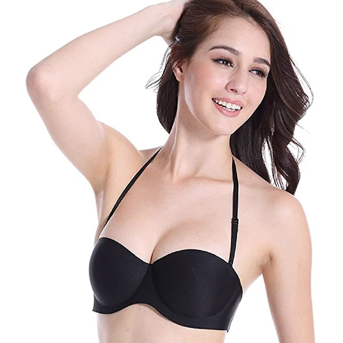 Mayuber Womens Strapless Bra Thin Padded Underwire Push Up T-Shirt  Invisible Bras Convertible Multiway Straps at Amazon Women s Clothing store  db0b20c9e