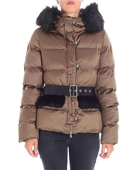 online store 3d585 40e5d Pinko Women's 1G13KAY4Q4L67 Brown Polyester Down Jacket ...