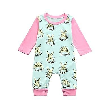 ece0da0be9fb Amazon.com  KONFA Toddler Baby Girls Boys Cartoon Rabbits Print ...