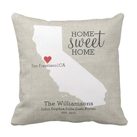 emvency manta funda de almohada California State Love Home ...