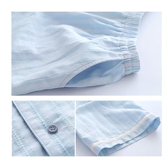 Pijamas Summer Sexy Sweet Ladies algodón cómodo algodón Dos Piezas HUXIUPING (Color : Azul, Tamaño : S): Amazon.es: Hogar