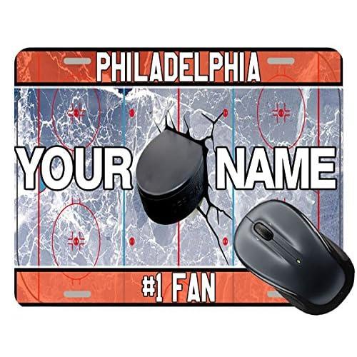 Discount BleuReign(TM) Personalized Custom Name Hockey Team License Plate Philadelphia Square Mouse Pad supplier