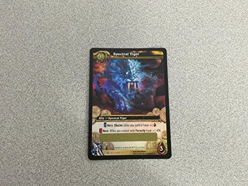 Spectral Tiger In Game Mount Unscratched Loot Card World of Warcraft Collecti... (Tcg Loot Card Mount)